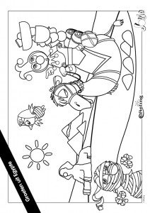 coloriage Jokie EGYPTE
