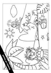 coloriage Jokie HAWAI