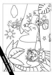 pagina da colorare Jokie HAWAI