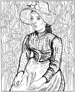 disegno da colorare La moglie del giovane contadino 1890