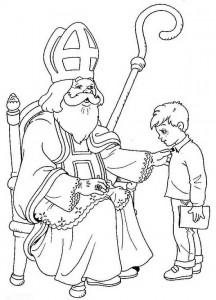 målarbok Boy at the Saint