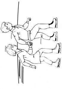 målarbok Pojke skridskoåkning