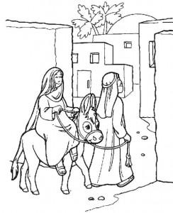 Joseph och Mary söker skydd
