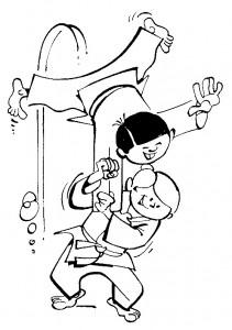 kleurplaat Judo (1)