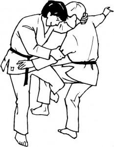 kleurplaat Judo (10)