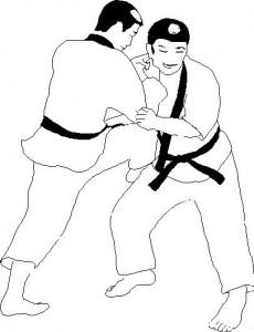 kleurplaat Judo (7)