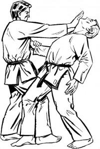 kleurplaat Judo (8)