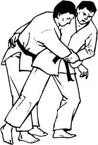 kleurplaat Judo (9)