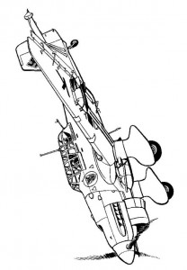 coloring page Junckers 87B Stuka 1940