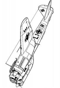 kleurplaat Junckers Ju 88A-4 Trop 1942