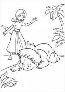 kleurplaat Jungle Boek 2 (14)
