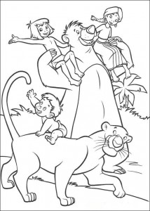 kleurplaat Jungle Boek 2 (2)
