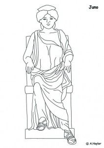 coloring page Juno, master of heaven