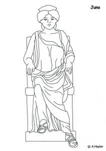 målarbok Juno, mästaren i himlen