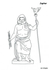 coloring page Jupiter, controller of heaven