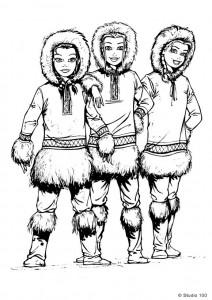 kleurplaat K3 als eskimos