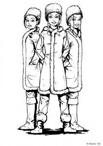 målarbok K3 som ryssar