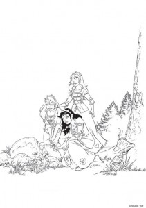 coloring page K3 the fairy tales (3)