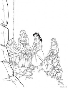 coloring page K3 the fairy tales (5)