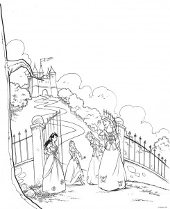 coloring page K3 the fairy tales