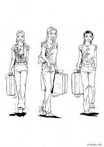 målarbok K3 på resa