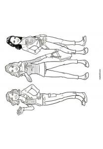 coloring page K3 hanne klaasje marthe (3)