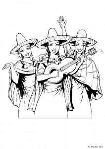 målarbok K3 i Mexiko