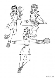 coloring page K3 tennis