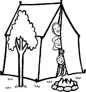 Disegno da colorare Campeggio (1)