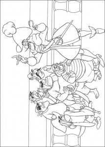 coloring page Captain Haak addresses the pirates