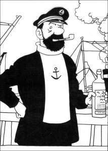 Coloriage Capitaine Haddock