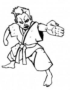 Disegno da colorare Karate (2)