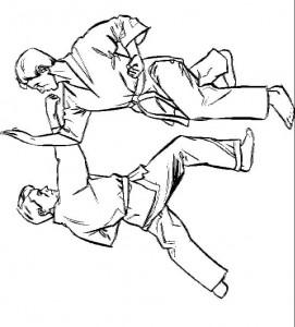 kleurplaat Karate (5)