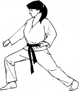kleurplaat Karate (6)