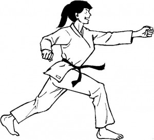 kleurplaat Karate (7)