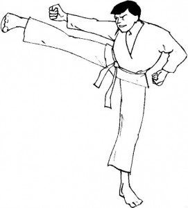 coloring page Karate (9)