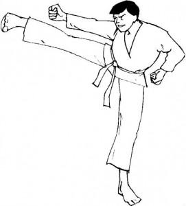 kleurplaat Karate (9)