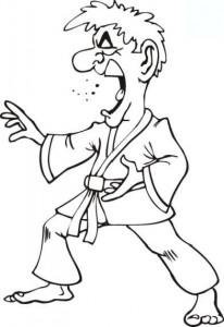 kleurplaat Karate