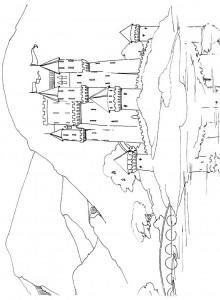 Dibujo para colorear Castillo (19)