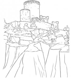 målarbok Slott