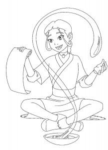 coloring page Katara (1)