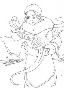 coloring page Katara (2)
