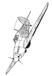 kleurplaat Kawker Hurricane 1940