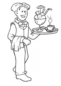 coloring page Waiter (1)