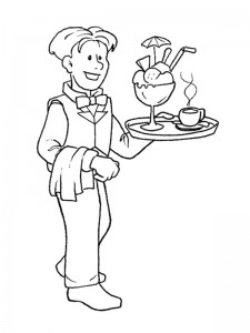 coloring Waiter