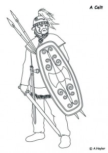 coloring page Celt, enemy of the Romans