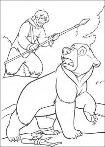 coloring page Kenai the bear (1)