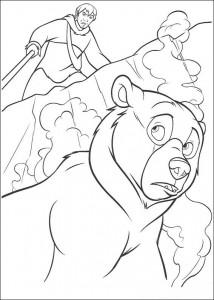 раскраска Kenai медведь