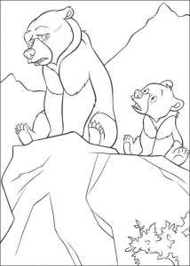 coloring page Kenai og Koda (1)