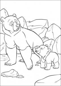 coloriage Kenai et Koda (2)